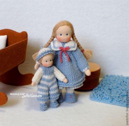 Вальдорфская игрушка ручной работы. Ярмарка Мастеров - ручная работа. Купить Братик и сестричка, 9 см и 13 см. Handmade.