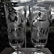 Винтаж handmade. Livemaster - original item 2 vintage Cup for beer engraving Egermann (Egermann) 1920-1930. Handmade.
