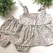 Комплекты одежды ручной работы. Ярмарка Мастеров - ручная работа Летний костюм для девочки. Handmade.
