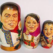 Подарки к праздникам ручной работы. Ярмарка Мастеров - ручная работа Матрешка-шарж. Handmade.