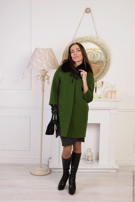 """Верхняя одежда ручной работы. Ярмарка Мастеров - ручная работа. Купить Пальто """"Форте -грин"""" СКИДКА. Handmade. Зеленый"""