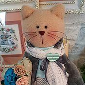 Куклы и игрушки handmade. Livemaster - original item Romantic Cat in gray, cat, scientist cat, March cat. Handmade.