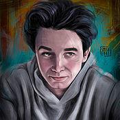 Иллюстрации ручной работы. Ярмарка Мастеров - ручная работа Портрет по фото цифровая живопись (акварель, масло). Handmade.