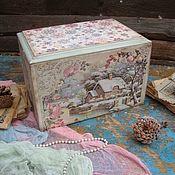 """Подарки к праздникам ручной работы. Ярмарка Мастеров - ручная работа Короб для игрушек """"Vintagе"""". Handmade."""