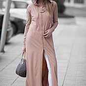 Одежда handmade. Livemaster - original item Luxury, long zip-up cardigan - VE0699CT. Handmade.