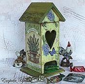 Домики ручной работы. Ярмарка Мастеров - ручная работа Чайный домик  для хранения пакетиков Ароматные травы. Handmade.