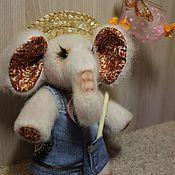 Мягкие игрушки ручной работы. Ярмарка Мастеров - ручная работа Слонёнок,текстильная игрушка. Handmade.