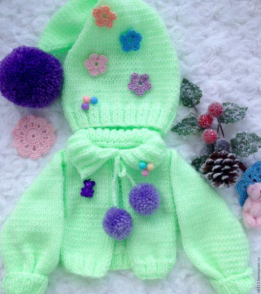"""Одежда для кукол ручной работы. Ярмарка Мастеров - ручная работа. Купить """"Мята"""". Комплект для куклы. Handmade. Мятный, шапка, пряжа"""