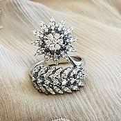 Украшения handmade. Livemaster - original item lights. Ring white gold with diamonds. Handmade.