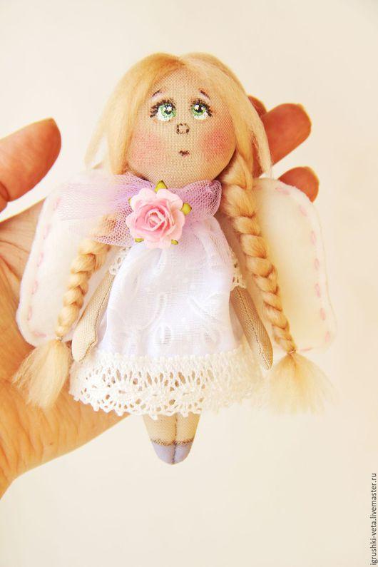 Коллекционные куклы ручной работы. Ярмарка Мастеров - ручная работа. Купить Ангелок на счастье. Handmade. Белый, ангелок, оберег