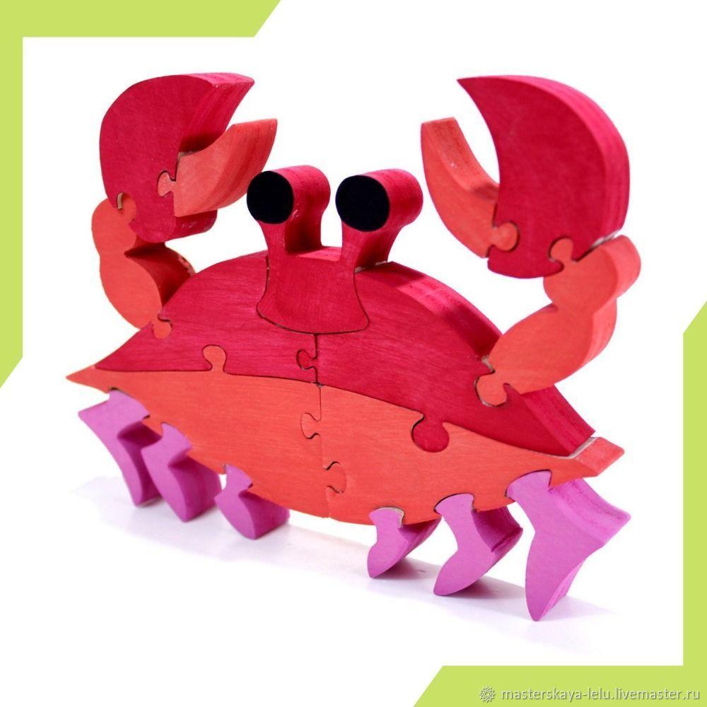 Пазл деревянный Краб, Развивающие игрушки, Петрозаводск, Фото №1