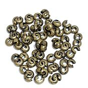 Материалы для творчества handmade. Livemaster - original item Decorative crimp 4 mm art. 3-58, color - bronze. Handmade.