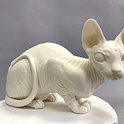 """Вазы ручной работы. Ярмарка Мастеров - ручная работа Кошка """" Сфинкс """" из фарфора Париан. Handmade."""