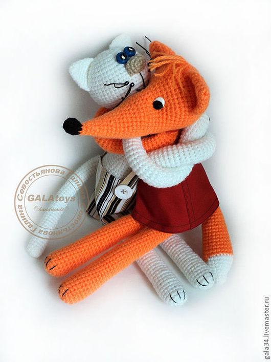 Подарки для влюбленных ручной работы. Ярмарка Мастеров - ручная работа. Купить Вязаные игрушки-обнимашки. Handmade. Вязаная игрушка, лиса