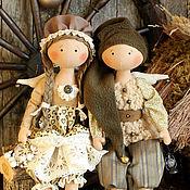 Куклы и игрушки ручной работы. Ярмарка Мастеров - ручная работа Винтажное Рождество интерьерные текстильные куклы ангелы в подарок. Handmade.