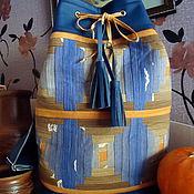 """Сумки и аксессуары ручной работы. Ярмарка Мастеров - ручная работа женский рюкзак """"Огонек"""" с  пэчворком. Handmade."""