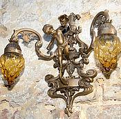 Винтаж ручной работы. Ярмарка Мастеров - ручная работа Бра Ангел два хранителя и свет Вашего дома антиквариат раритет. Handmade.