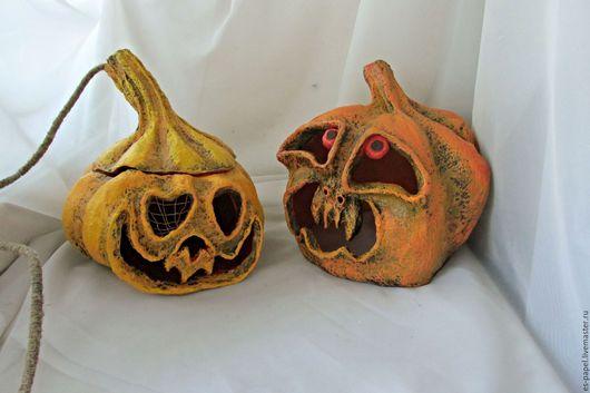 Подарки на Хэллоуин ручной работы. Ярмарка Мастеров - ручная работа. Купить Тыквы для Хеллоуина. Handmade. Хеллоуин, Папье-маше