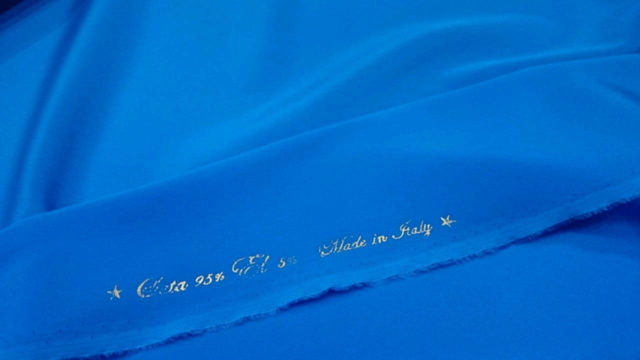 Шелк однотонный в ассортименте, производство Италия №12, Ткани, Новосибирск,  Фото №1