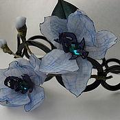 Украшения ручной работы. Ярмарка Мастеров - ручная работа Орхидея ванда синяя ободок. Handmade.