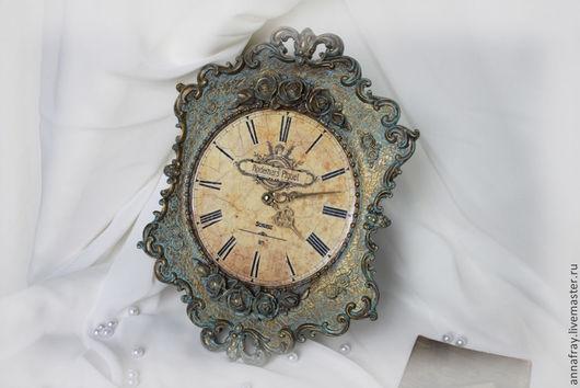 """Часы для дома ручной работы. Ярмарка Мастеров - ручная работа. Купить Настенные часы """"Audemars Piguet"""". Handmade. Золотой, гипс"""