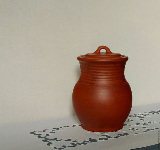 Графины, кувшины ручной работы. Ярмарка Мастеров - ручная работа. Купить Крынка 16 см. Handmade. Рыжий, гончарные изделия