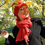 """Аксессуары ручной работы. Ярмарка Мастеров - ручная работа """"МАКОШЬ"""" - шапочка+шарф. Handmade."""