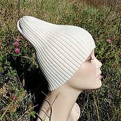 Аксессуары handmade. Livemaster - original item Knitted hat, beanie, pumpkin, Merino wool. Handmade.