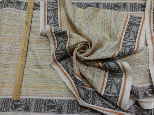 Шитье ручной работы. Ярмарка Мастеров - ручная работа. Купить Ткань льняная жаккардовая арт.10с43 Парусник. Handmade.
