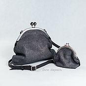 handmade. Livemaster - original item Evening bag with clasp theatrical handbag black. Handmade.