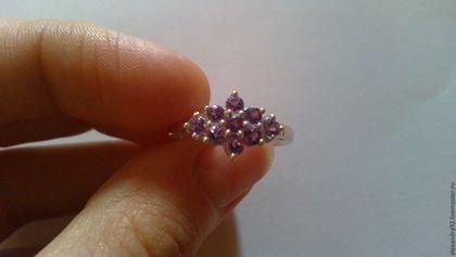аукцион на кольцо, серебряное кольцо, кольцо с аметистом