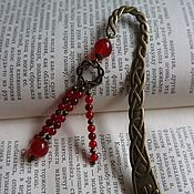 Канцелярские товары handmade. Livemaster - original item Bookmark Bronze with chalcedony and carnelian. Handmade.