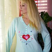 """Одежда ручной работы. Ярмарка Мастеров - ручная работа Пижама женская из флиса с вышивкой """" сердце"""". Handmade."""