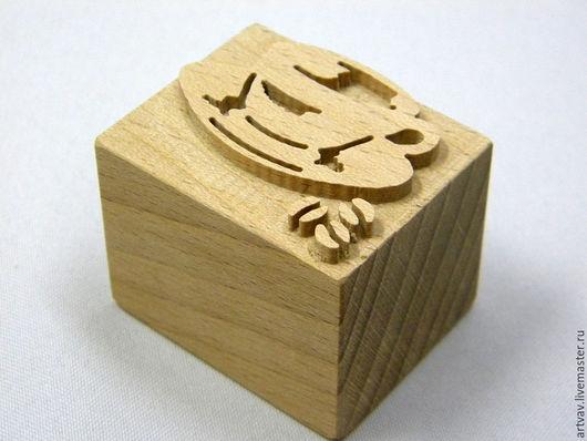 """Штампы для мыла ручной работы. Ярмарка Мастеров - ручная работа. Купить Штамп деревянный для мыла """"Чашка кофе"""". Handmade. Коричневый"""