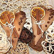 Подарки к праздникам ручной работы. Ярмарка Мастеров - ручная работа Кофейные сердечки мужские. Handmade.