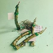 Сувениры и подарки ручной работы. Ярмарка Мастеров - ручная работа Травяная экосвеча на пчелином воске. Handmade.