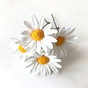 Свадебный салон handmade. Livemaster - original item Hairpins with chamomile flowers. Handmade.