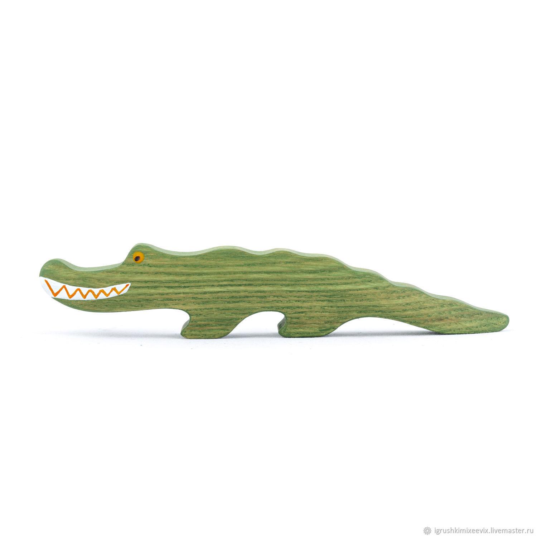 Крокодил. Игрушка деревянная развивающая, Вальдорфские куклы и звери, Смоленск,  Фото №1