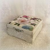 Для дома и интерьера ручной работы. Ярмарка Мастеров - ручная работа шкатулка для украшений Цветы Парижа. Handmade.