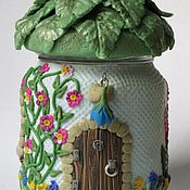 """Для дома и интерьера ручной работы. Ярмарка Мастеров - ручная работа """"Домик Эльфа"""" - шкатулка - баночка. Handmade."""