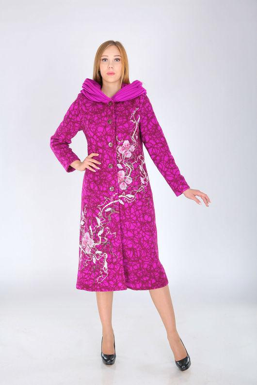 Верхняя одежда ручной работы. Ярмарка Мастеров - ручная работа. Купить П 61. Handmade. Фуксия, пальто женское