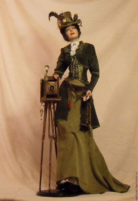 """Коллекционные куклы ручной работы. Ярмарка Мастеров - ручная работа. Купить """"Октопус миссис Тальбот"""". Handmade. Тёмно-зелёный"""