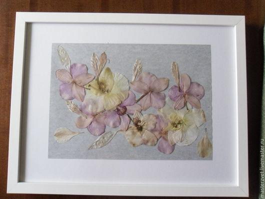 `Орхидея` на серебряном фоне,, размер 43*33