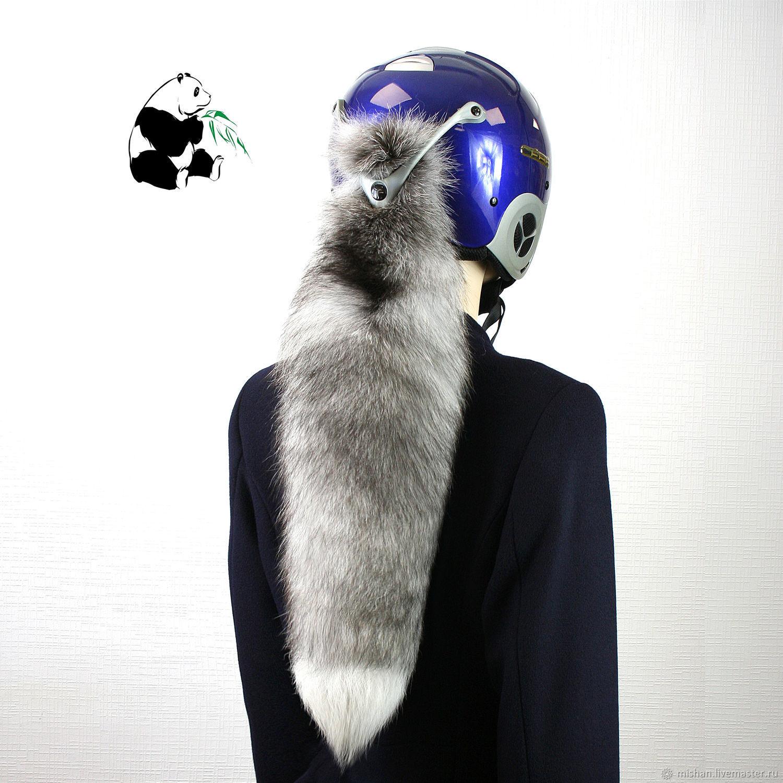 Chic tails Finnish Bluefrost Fox. Tail on helmet №5, Fur, Ekaterinburg, Фото №1