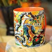 Посуда ручной работы. Ярмарка Мастеров - ручная работа Кандинский, фаллические зверьки. Handmade.