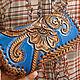 Leather wallet 'Favorite flower' - blue. Wallets. schwanzchen. Online shopping on My Livemaster.  Фото №2