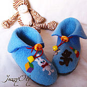 Обувь ручной работы. Ярмарка Мастеров - ручная работа Детские валяные башмачки. Handmade.