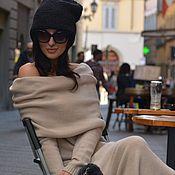 Одежда ручной работы. Ярмарка Мастеров - ручная работа Платье вязаное длинное Principessa. Handmade.