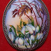 """Брошь-булавка ручной работы. Ярмарка Мастеров - ручная работа брошь-кулон """"Весна"""". Handmade."""