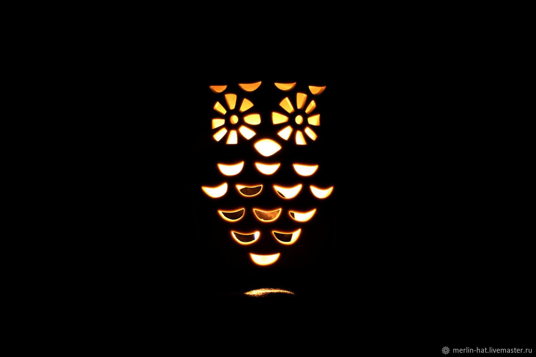 Ceramic night light 'Owl', Blanks for decoupage and painting, Tambov,  Фото №1